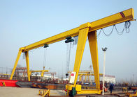 Truss ELectric Single Girder Gantry Crane With Hook / Strong Lifting Winch Easy Control